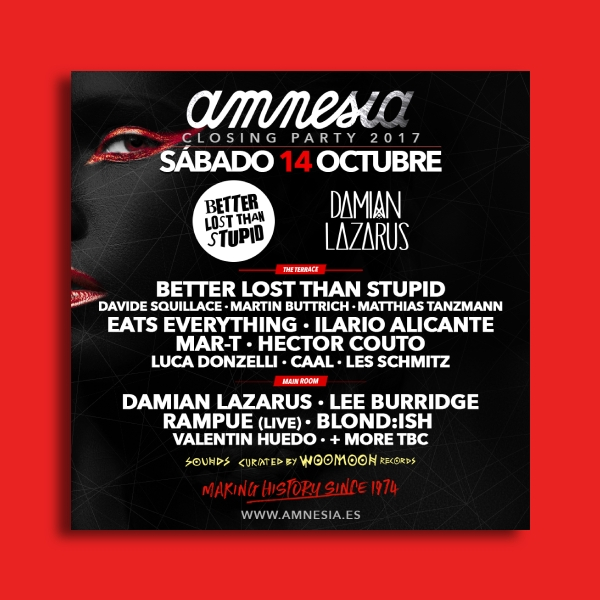 amnesia party flyer