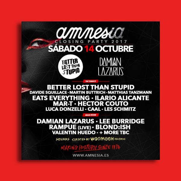 amnesia party flyer