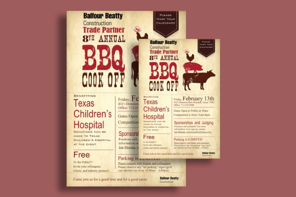 annual bbq cook off flyer