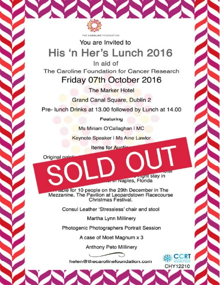 annual charity lunch invitation