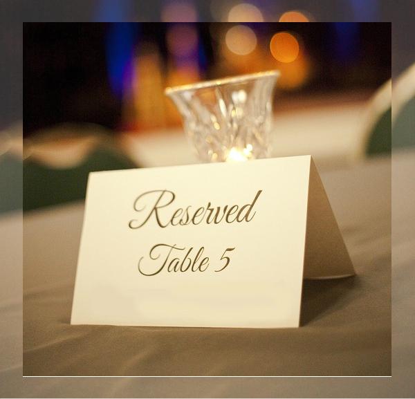 annual fall banquet place card
