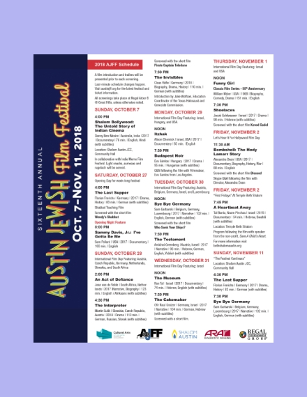 annual film festival schedule