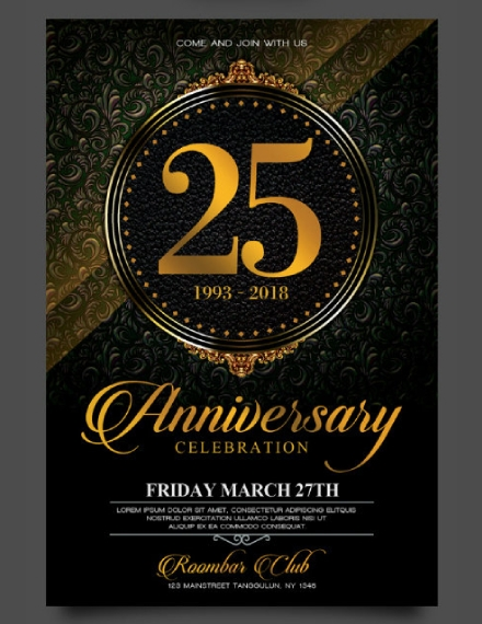 art deco anniversary invitation