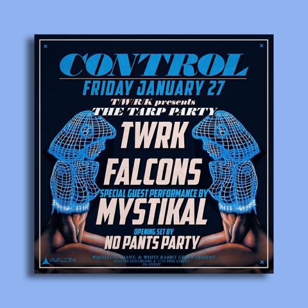 avalon party flyer