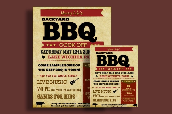 backyard bbq cook off promo flyer