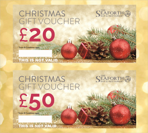 bar and restaurant christmas gift voucher design1