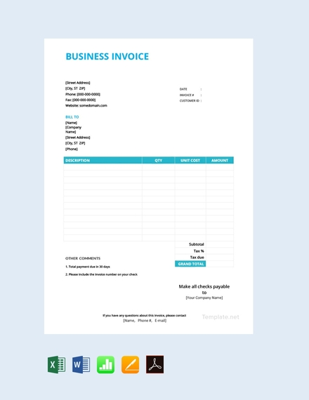 basic business invoice