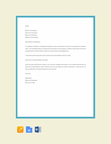 basic employee promotion letter design