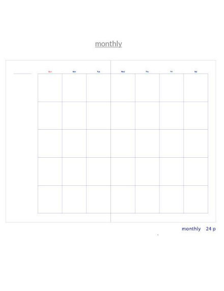basic monthly planner