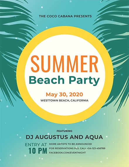 beach party flyer