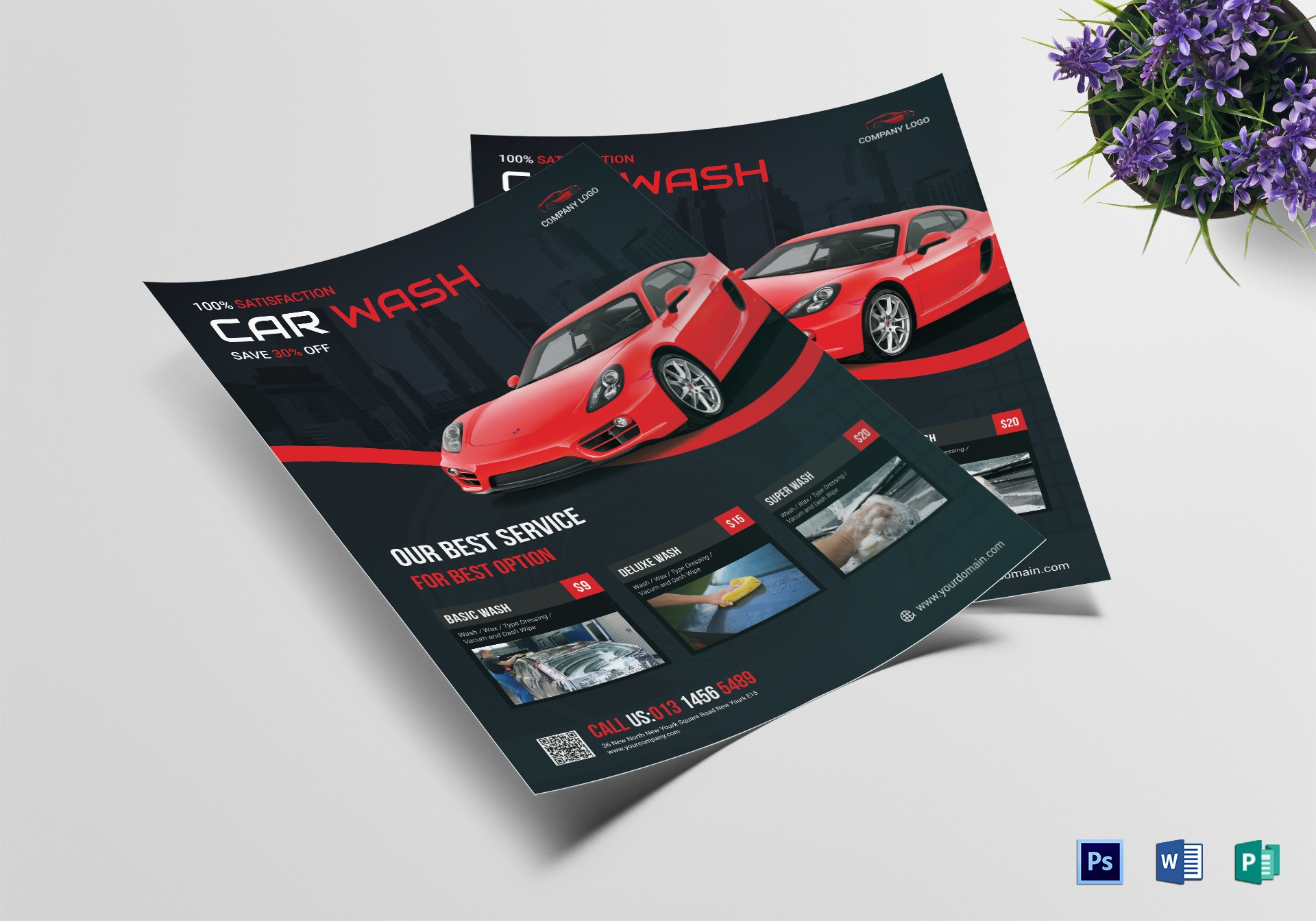 best car wash service flyer