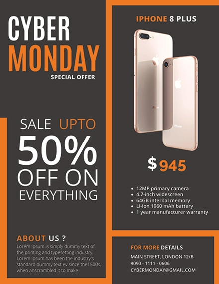 big cyber monday sale flyer