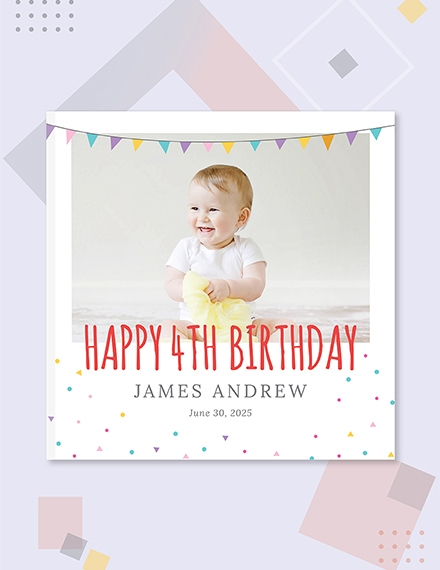 birthday photo book cover
