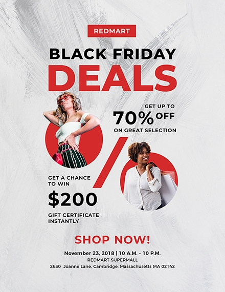 black friday deal flyer