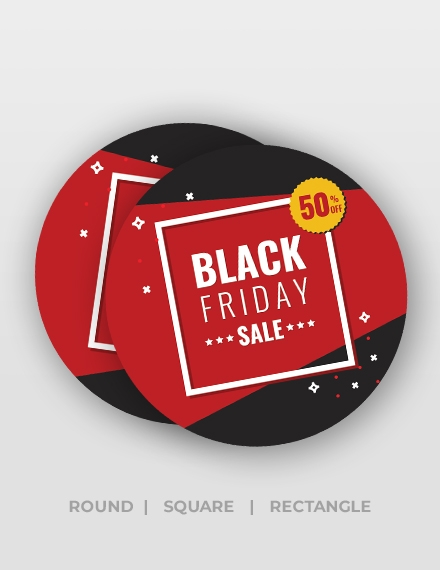 black friday discount stickers