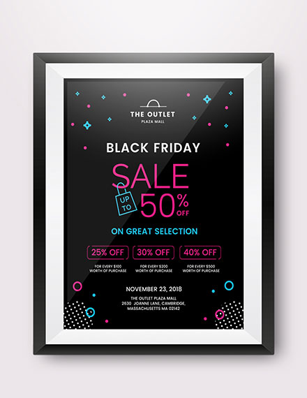 black friday promotional poster