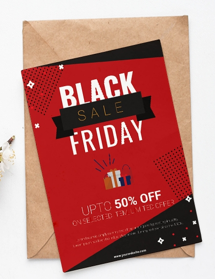 black friday shopping party invitation