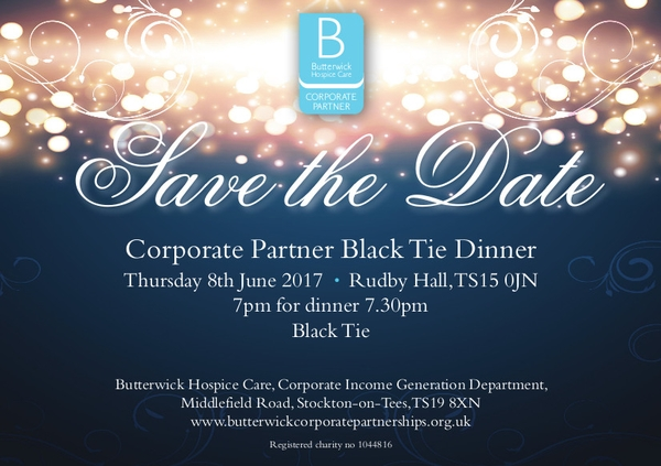 black tie dinner save the date invitation