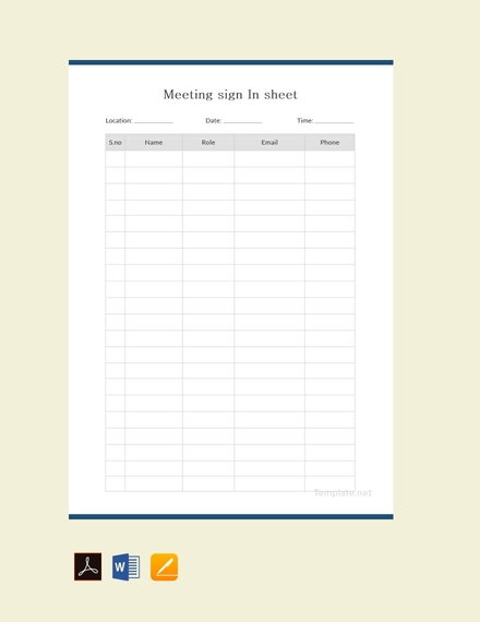 14 blank sign in sheet examples templates in doc pdf pages
