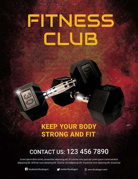 body fitness club flyer