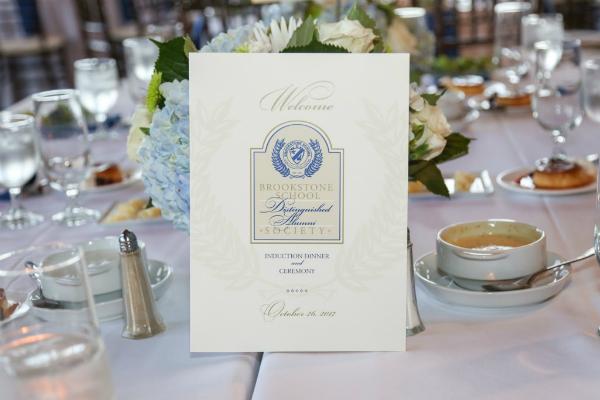 brookstone school banquet place card