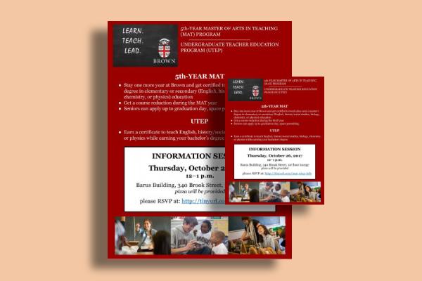 brown university advanced education flyer