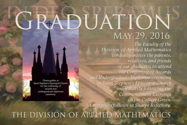 brown university graduation invitation