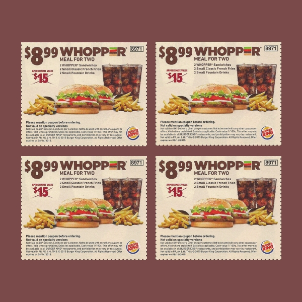 burger king food voucher