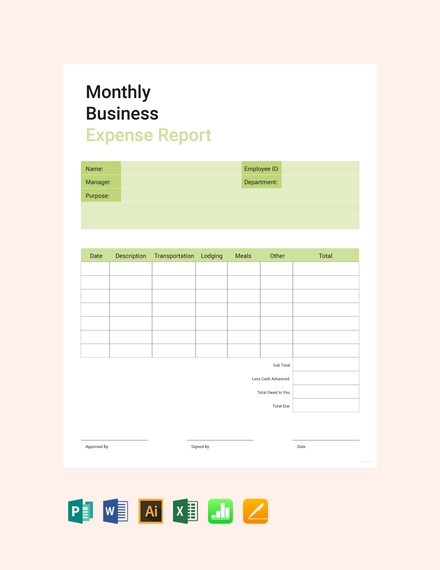 Business Expense Report Template1