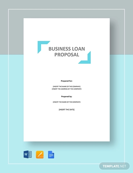 business loan proposal template