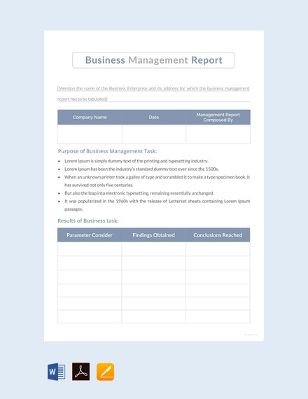 business management report template3