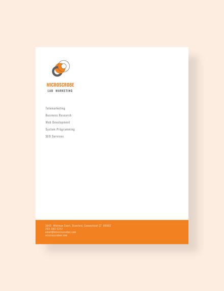 business marketing letterhead