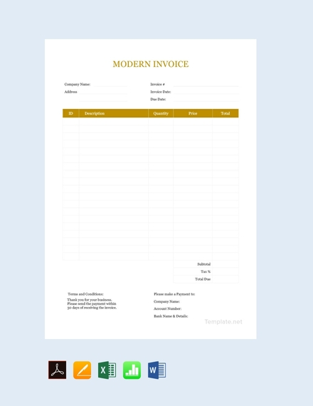 business modern invoice