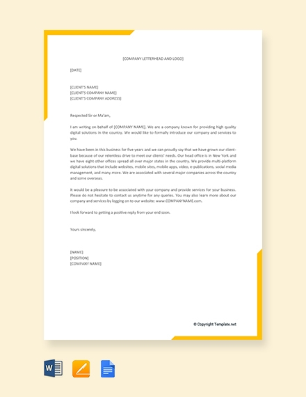 business proposal letter for service