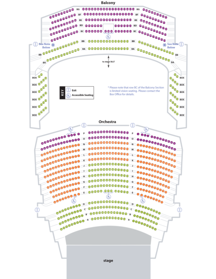 coc performing arts center seating chart