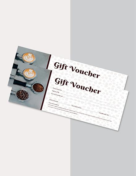 cafe food gift voucher