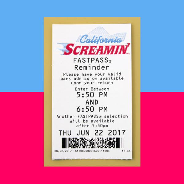 california screamin admission ticket