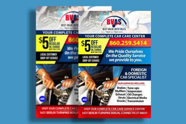 car care service flyer