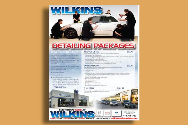 car detailing service flyer