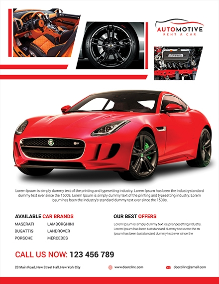 car sales flyer