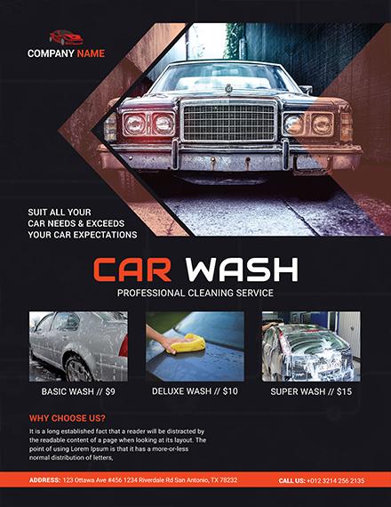 car wash business flyer design
