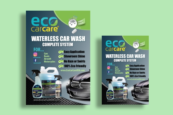 car wash cleaning flyer