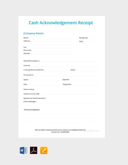 cash acknowledgement receipt template1
