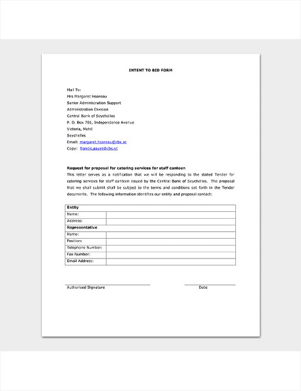 catering business proposal sample