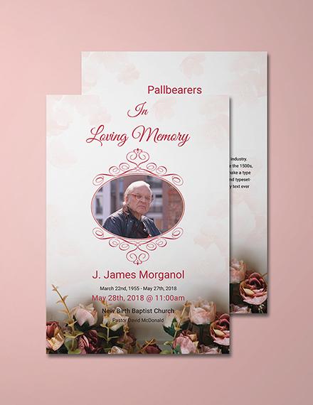 catholic funeral invitation template