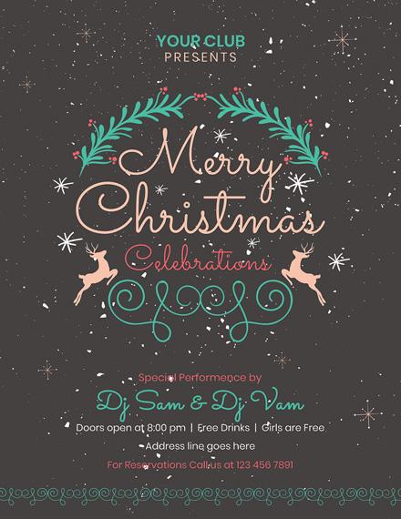 chalkboard christmas flyer