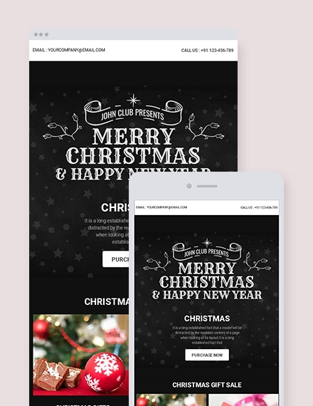 chalkboard christmas newsletter template