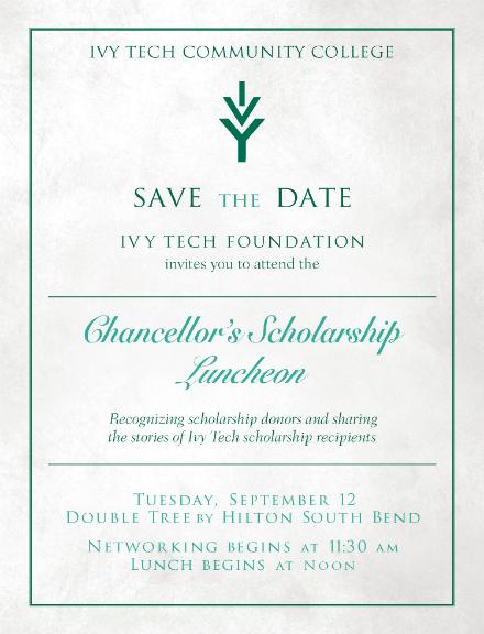 chancelors scholarship lunheon invitation