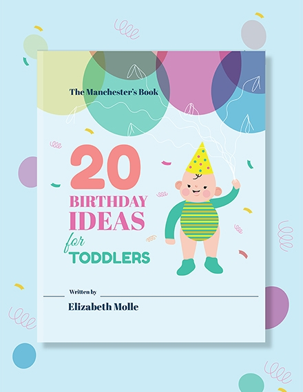 childrens birthday book cover