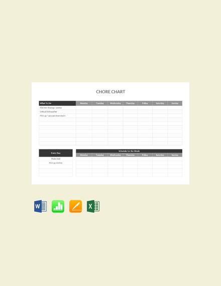 chore chart sample
